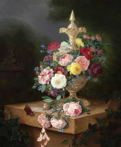 Wall Art - Painting - Still Life With Flowers By Adriana Van Ravenswaay by Adriana van Ravenswaay