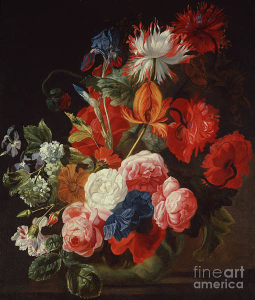 Wall Art - Painting - Still Life With Flowers By Johannes Or Jan Verelst by Johannes or Jan Verelst