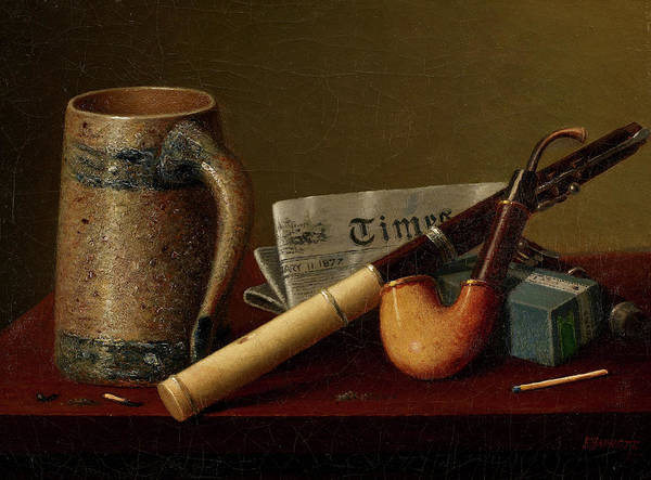 Wall Art - Painting - Still-life With Flute And Times by William Harnett