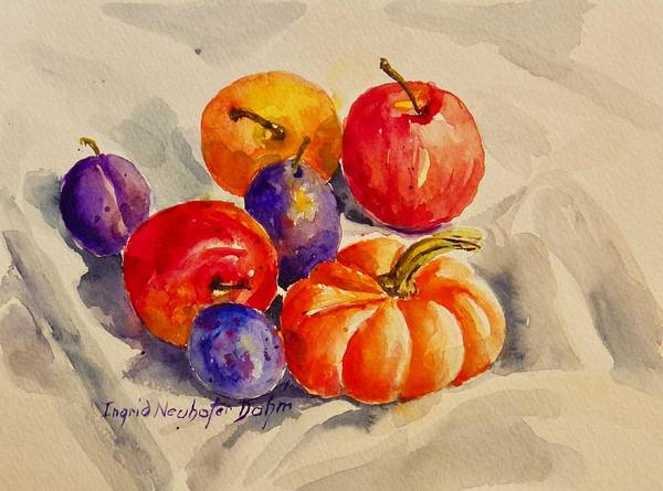 Painting - Still Life With Fruit by Ingrid Dohm