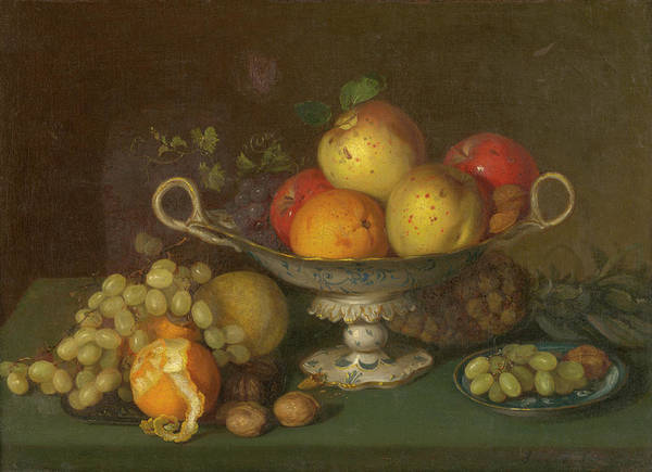 Painting - Still Life With Fruit, 1844 by Joseph Biays Ord