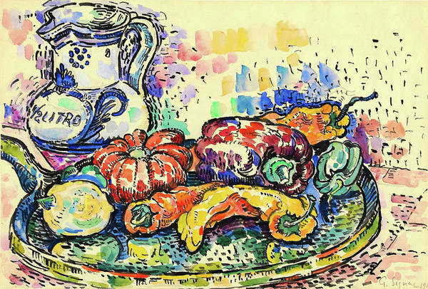Wall Art - Painting - Still Life With Jug - Digital Remastered Edition by Paul Signac