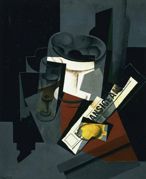 Wall Art - Painting - Still Life With Newspaper, 1916 by Juan Gris