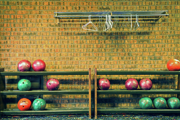 Ten Pin Bowling Wall Art - Photograph - Still Life With No Glow In Dark Balls by E. Treffly Coyne