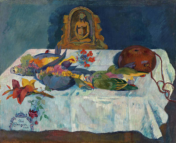 Wall Art - Painting - Still-life With Parrots, 1902 by Paul Gauguin