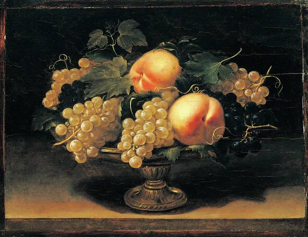 Painting - Still Life With Peaches, White Grapes by Mondadori Portfolio