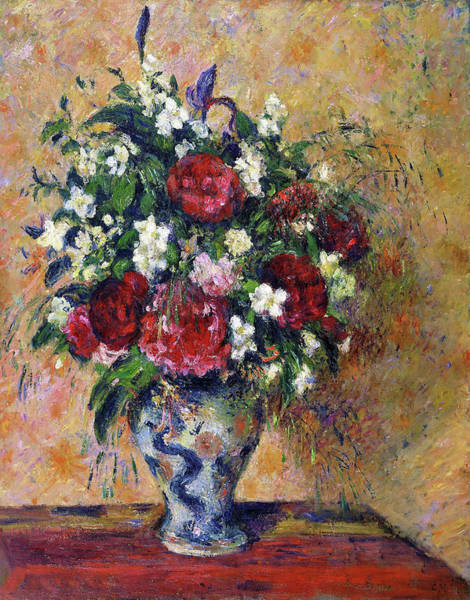 Wall Art - Painting - Still Life With Peonies And Mock Orange - Digital Remastered Edition by Camille Pissarro