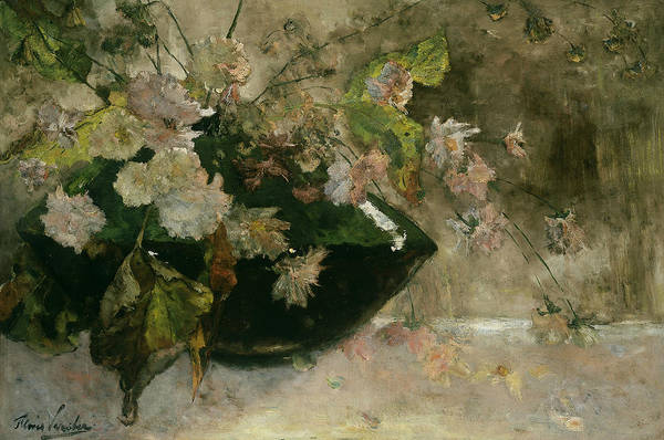 Painting - Still Life With Peonies by Floris Verster
