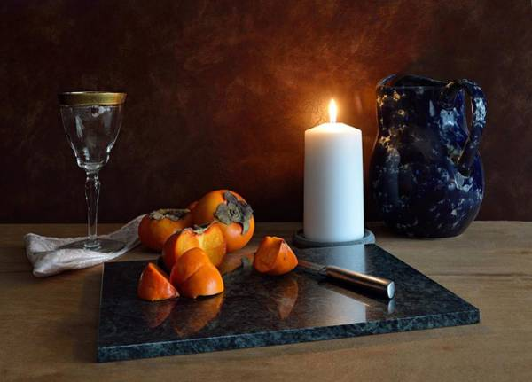 Photograph - Still Life With Persimmons by Mark Fuller