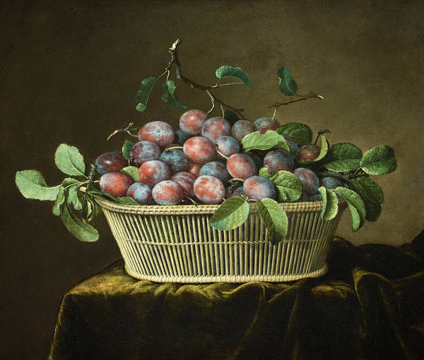 Wall Art - Painting - Still Life With Plums, 1666 by Pierre Dupuis