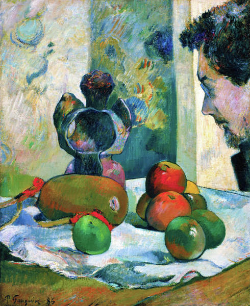 Wall Art - Painting - Still Life With Profile Of Laval - Digital Remastered Edition by Paul Gauguin