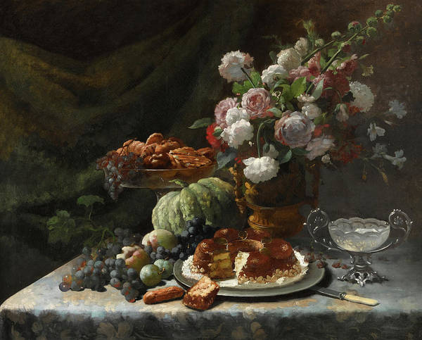 Wall Art - Painting - Still Life With Pumpkin by Frans Mortelmans