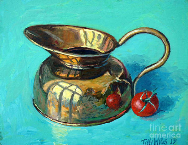 Wall Art - Painting - Still Life With Tomato by Tilly Willis