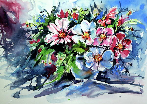 Wall Art - Painting - Still Life With Wildflowers by Kovacs Anna Brigitta