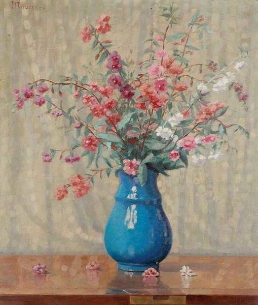 Wall Art - Painting - Still Llife With Wild Flowers By Ernest Moulines 1870-1942 by Ernest Moulines