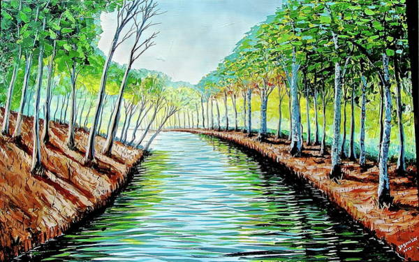 Painting - Still Waters by Evans Yegon
