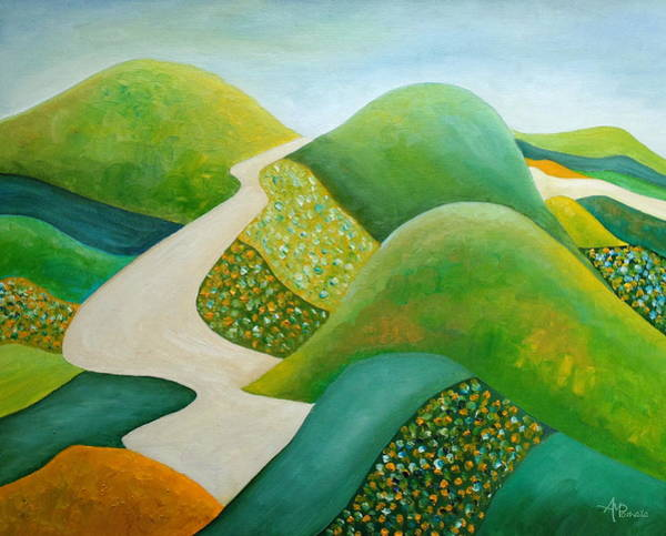 Painting - Stilling Hills by Angeles M Pomata