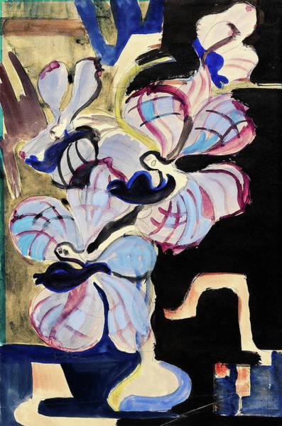 Golden Bloom Painting - Stillleben Mit Orchideen - Digital Remastered Edition by Ernst Ludwig Kirchner