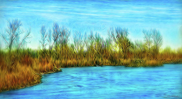 Digital Art - Stillness Of A Winter Day by Joel Bruce Wallach
