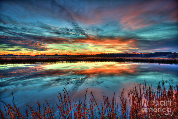 Photograph - Majestic Stillness Sunset Reflections Oconee County Landscape Art by Reid Callaway