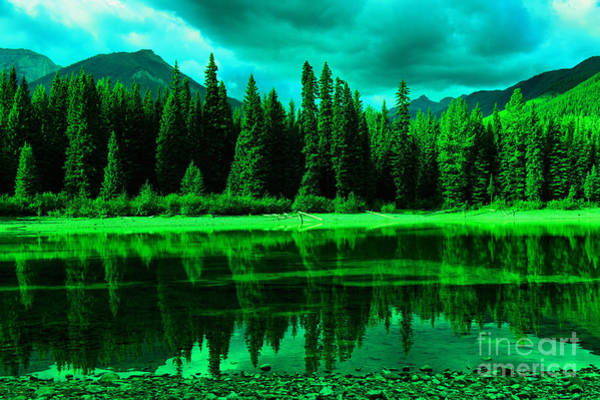 Stillwater Wall Art - Photograph -  Stillwater Reflecting Trees And Mountains by Jeff Swan