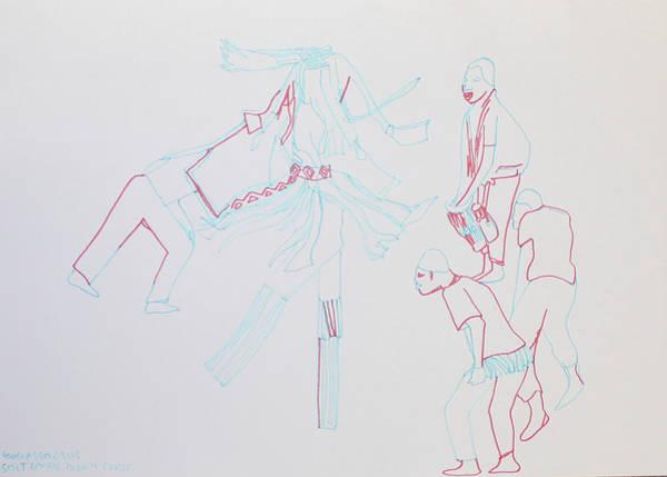 Painting - Stilt Dance Ivory Coast by Gloria Ssali
