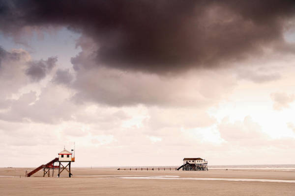 Mud House Photograph - Stilted Houses At Beach, St by H. & D. Zielske / Look-foto