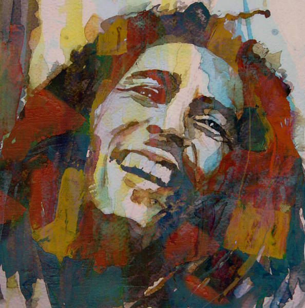 Wall Art - Painting - Stir It Up - Retro - Bob Marley by Paul Lovering