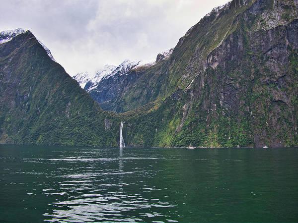 Photograph - Stirling Falls 2 - Milford Soud - New Zealand by Steven Ralser