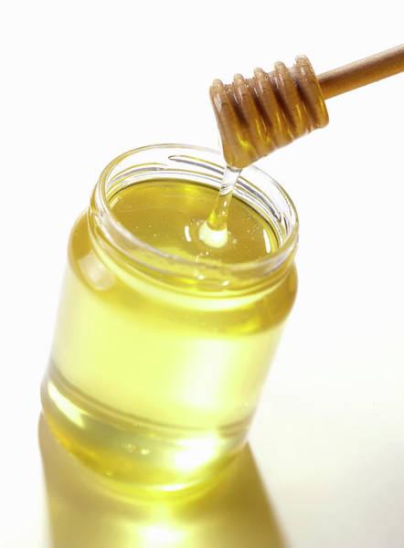 Jar Photograph - Stirrer In Jar Of Honey by Opificio 42