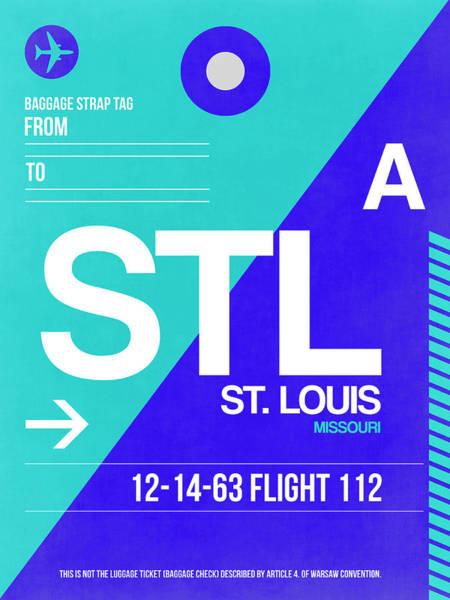 Wall Art - Digital Art - Stl St. Louis Luggage Tag II by Naxart Studio