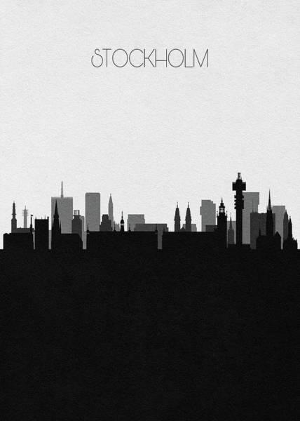 Digital Art - Stockholm Cityscape Art by Inspirowl Design