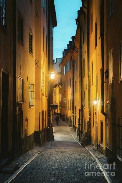 Wall Art - Photograph - Stockholm Gamla Stan Twilight by JR Photography
