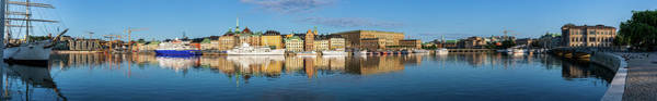 Wall Art - Photograph - Stockholm Old City Golden Hour Sunrise Reflection In The Baltic Sea by Dejan Kostic