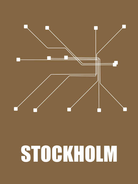 Wall Art - Digital Art - Stockholm Subway Map 2 by Naxart Studio