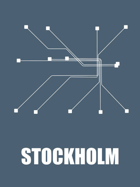 Wall Art - Digital Art - Stockholm Subway Map by Naxart Studio