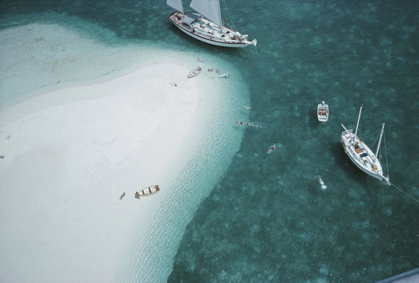 Photograph - Stocking Island, Bahamas by Slim Aarons