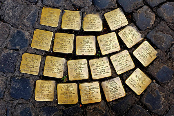 Photograph - Stolperstein by Fabrizio Troiani