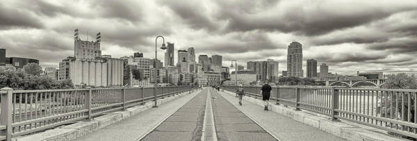 Wall Art - Photograph - Stone Arch Bridge With Buildings by Panoramic Images