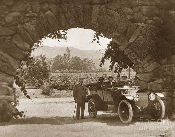 Photograph - Stone Arch Of The Entrance To The Greystone Winery Was The Home  by California Views Archives Mr Pat Hathaway Archives