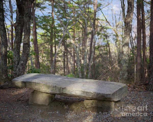 Photograph - Stone Bench by Patrick M Lynch