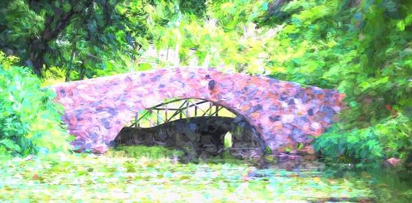 Photograph - Stone Bridge Monet Style by Karen Silvestri
