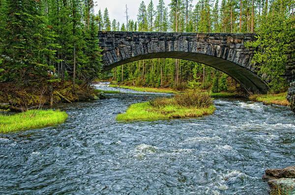 High Dynamic Range Imaging Photograph - Stone Bridge Over Crawfish Creek by Bill Wight