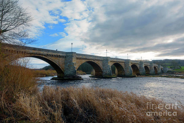 Wall Art - Photograph - Stone Bridge Over The River Tyne In Corbridge Northumberland by Louise Heusinkveld