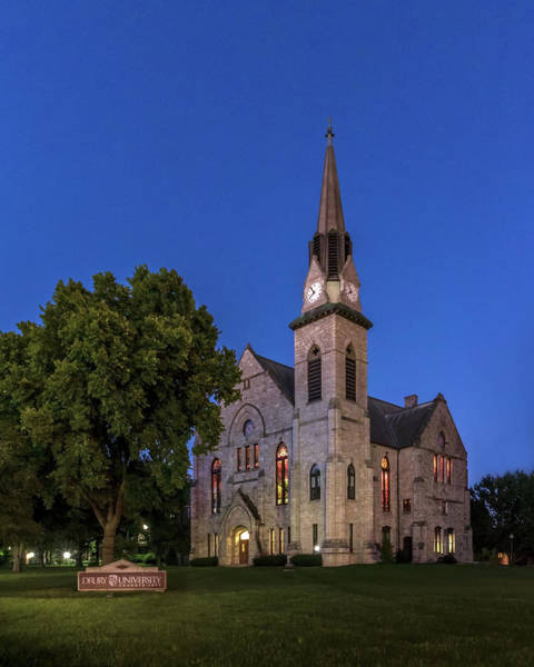 Photograph - Stone Chapel At Night by Allin Sorenson
