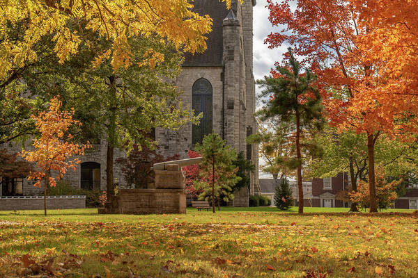 Photograph - Stone Chapel Autumn by Allin Sorenson