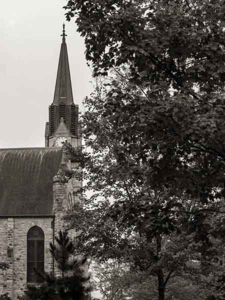Photograph - Stone Chapel - Black And White by Allin Sorenson