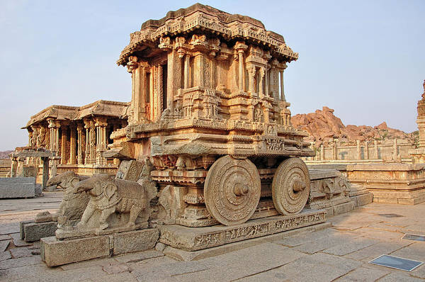 Hindu Photograph - Stone Chariot Hampi by Never Let Fear Stop Creativity