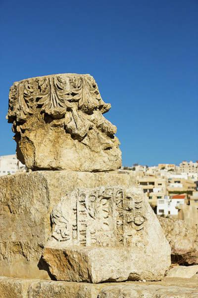 Jerash Photograph - Stone Face by Nicola Nobile