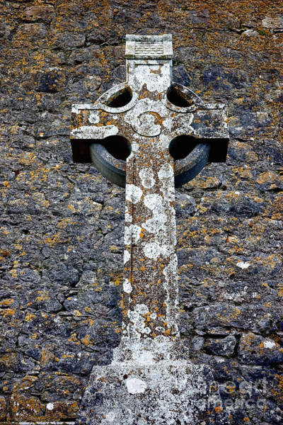 Wall Art - Photograph - Stone Irish Cross by Olivier Le Queinec